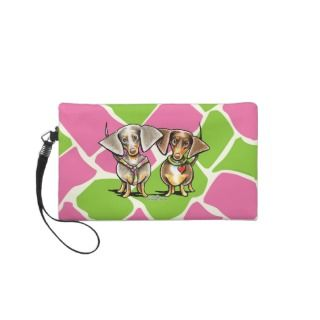 Dashing Dappled Dachshunds Wristlets