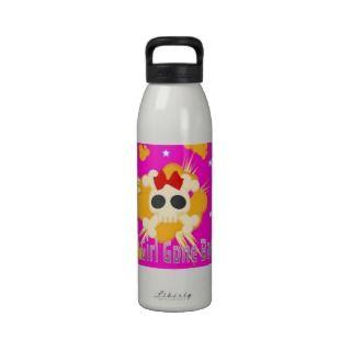 Sassy Pink Skull water bottle Good Girl Gone Bad