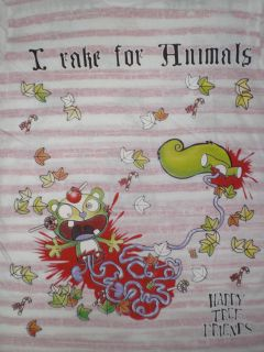 Happy Tree Friends Animals White Pink Girly Shirt