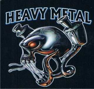 Heavy Metal Motorcycle Rally Hard Rock Sturgis Skull Music Retro Biker