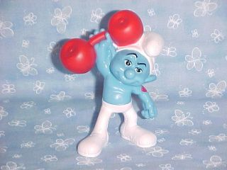 Hefty Smurf The Smurfs Movie McDonalds Happy Meal Toy PVC Figure 2¾