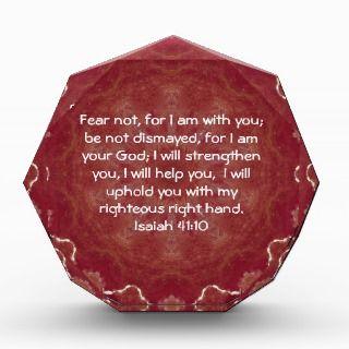 Inspirational Quote Isaiah 41:10 Acrylic Award