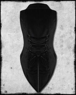 Spin Doctor Black Velvet Steampunk Waistcoat Tailcoat