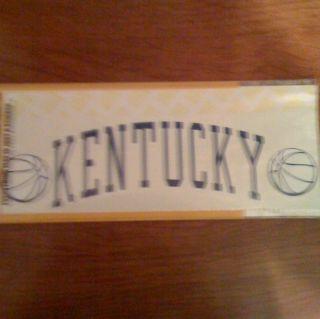 Kentucky UK Wildcats KY Basketball Car Truck SUV New Vinyl Decal