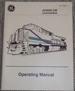 GE Locomotive Operators Manual AC6000 Union Pacific Railroad 1996