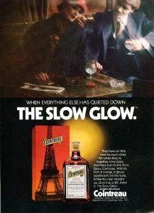 1978 Cointreau French Orange Liquor Slow GlowPrint Ad