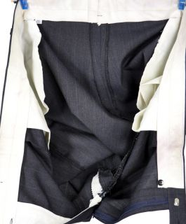 54L Hardwick Dark Blue Pinstripe Two Button Executive Wool Blend Suit