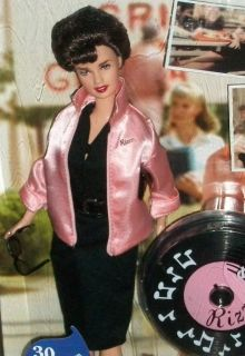 Sultry Grease Rizzo Barbie Pink Jacket Black Dress Musical Stand