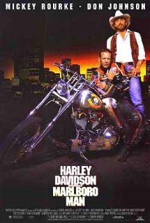 Harley Davidson The Marlboro Man Poster Mickey Rourke