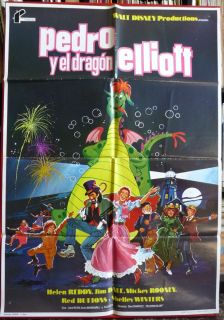 1978 Movie Poster Spanish Walt Disney Helen Reddy Mickey Rooney