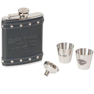 HARLEY DAVIDSON Motorcycles Hip Flask & Shot Glass Gift Set HDL 18505