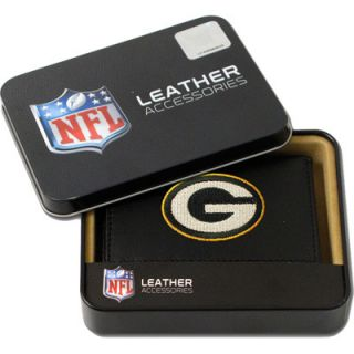 Green Bay Packers Embroidered Bifold Genuine Leather Wallet FREE Gift
