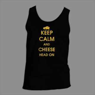 Keep Calm and Cheese Head Green Bay Packers Tank Top