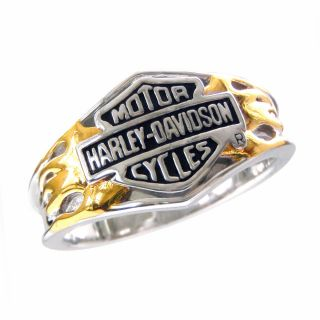Harley Davidson Ladies Silver Classic Logo Ring New