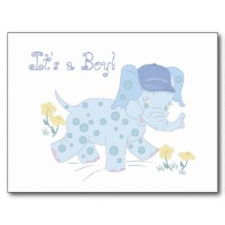 Baby Boy Birth Announcement Postcard
