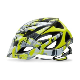 Giro XAR All Mountain Bike Helmet Neon Green Bars LRG