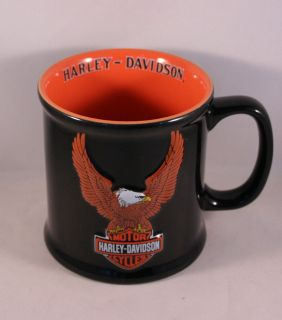 Harley Davidson 2002 Motorcycle Eagle Black Coffee Mug