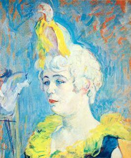 Portrait Cha U Kao Abcrobat Henri Toulouse Lautrec Art Vivid