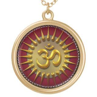 Gold Aum Sun Energy Necklace