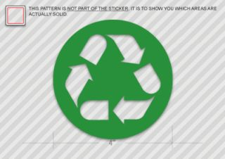 Recycle Symbol Sticker Decal Environmental Green Vinyl Die Cut