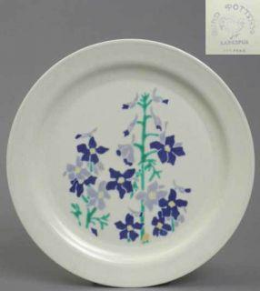 Vernon Kilns Pottery Harry Bird Larkspur Dinner Plate