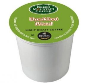 Green Mountain Coffee Breakfast Blend K Cups for Keurig Kuerig 50 New