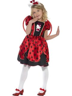 Child Age 4 6 Years Hello Kitty Lady Bug Fairy Fancy Dress Costume