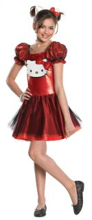 Hello Kitty Red Sequin Dress Costume Child New