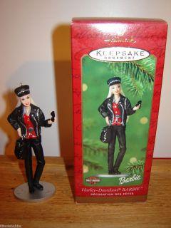 Hallmark Harley Davidson Mattel Barbie Keepsake Ornament 2000   NEW IN