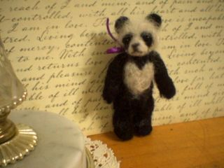 LITTLE HAROLD, A ONE OF A KIND NEEDLE FELTED, SOLID MOHAIR AND WOOL