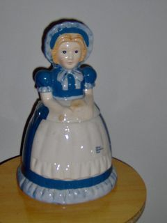 Nabisco Blue Bonnet Sue Ceramic Cookie Jar