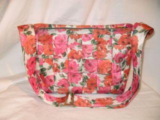 Harveys Pink Orange Floral Print Seatbelt Crossbody Shoulder Bag