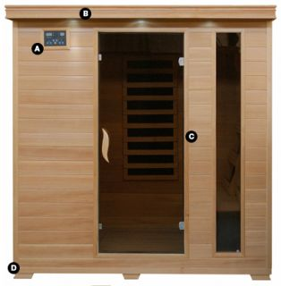 Hemlock 4 Person Carbon Heater Far Infrared Sauna New