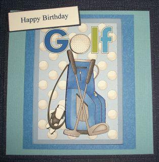 Handmade Card Greeting Card 3D Happy Birthday for The Golfer