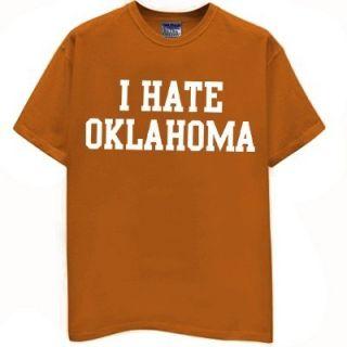 Hate Oklahoma T Shirt Longhorns Jersey Texas Funny Football Vintage