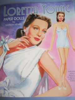 Loretta Young Paper Doll Book by Marilyn Henry w Movie Costumes