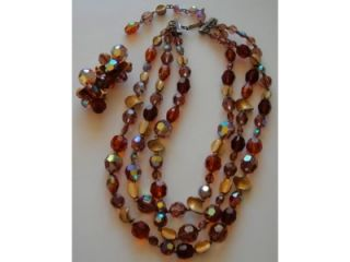 Hattie Carnegie Austrian Crystal Necklace Earrings
