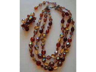 Hattie Carnegie Austrian Crystal Necklace Earrings