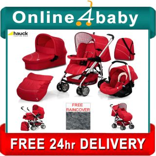 Hauck Condor 11 All in One Trio Red Travel System Stroller Car Seat
