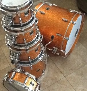 Gretsch Renown Maple Inca Gold 6 Piece Drum Set W/ Matching Snare Drum