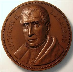 1886 William Henry Harrison Presidential Medal