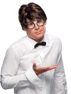 Grey Men Adult Male Character Wig 60s Austin Powers Nerd Costume Wig