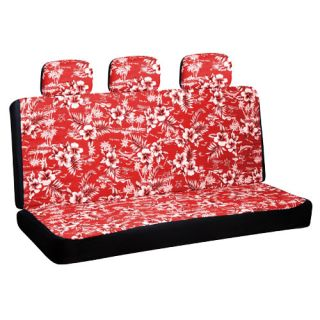 Piece Set Hawaii Red Low Back Rear Bench Auto Car Seat Cover Plus