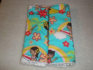 Toddler Car Seat Strap Covers Hawaiian Kids Reversible