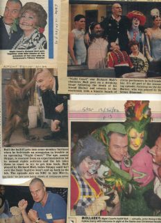 TV show collection 31 clippings 1986 90 Harry Anderson Richard Moll