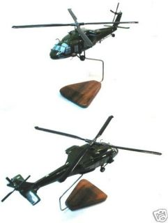 UH 60 Black Hawk Helicopter Wood Desk Model