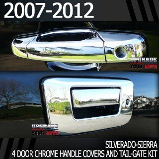 2007 2013 Chevy Avalanche Chrome Door Handles + Chrome Tail Gate