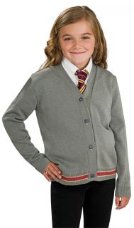 Harry Potter Hermione Sweater Cardigan & Tie Costume Set Child