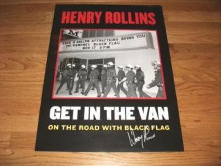Henry Rollins Black Flag Misfits Signed 18x24 Poster