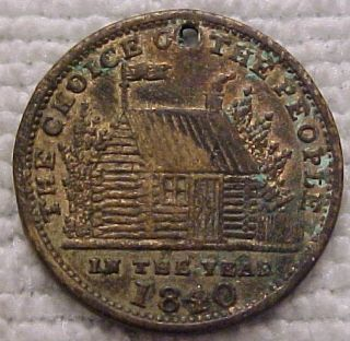 1840 William Henry Harrison Political Campaign Token
